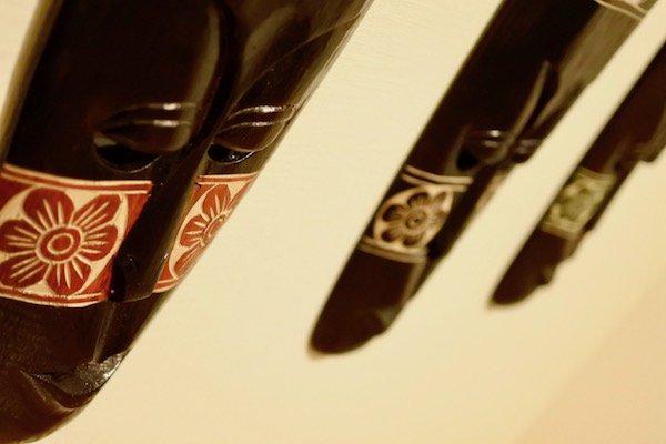 ロンボクフラワーマスク50cm(ブラック)
