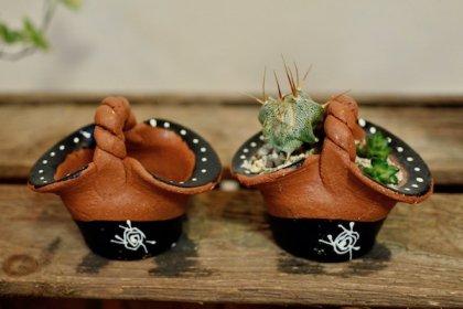 バリ島のミニかご陶器