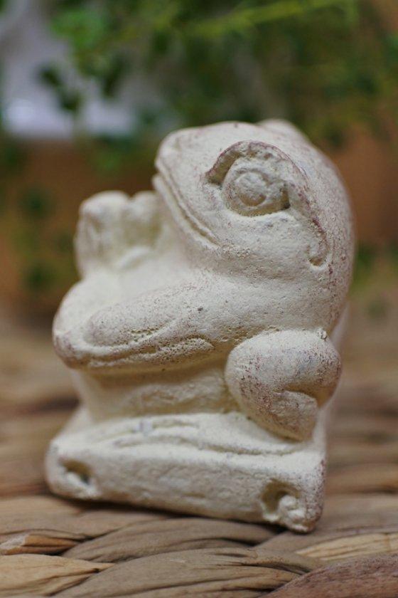 カエルのフラワー香立て(ホワイト・ブラウン)