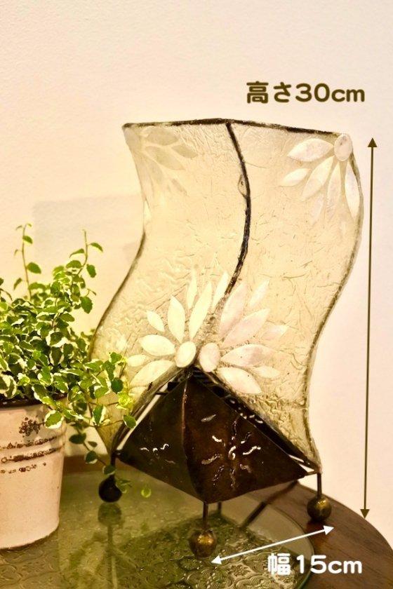 【10月下旬入荷予定】シェルのお花モチーフSカーブランプ