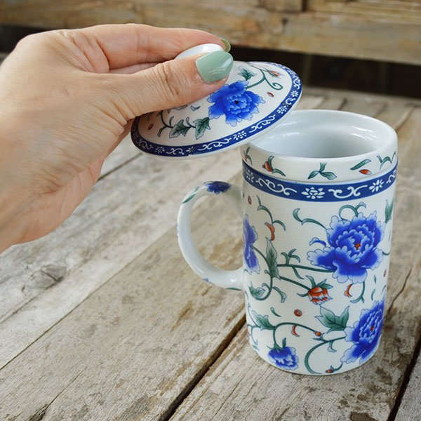 茶こし付きカップ(黄・緑・青・赤)