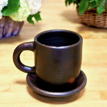 素焼きマグカップ&ソーサ—