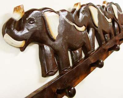 ゾウのハンガー 5個フックつき