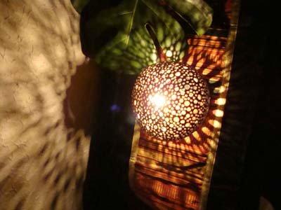 ココナツの実ランプ(スター柄)