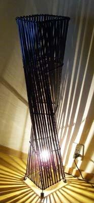 バンブー花台ネジレランプ