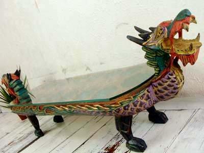 ドラゴン ガラステーブル