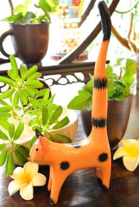 ミニしっぽネコホルダー(三毛)