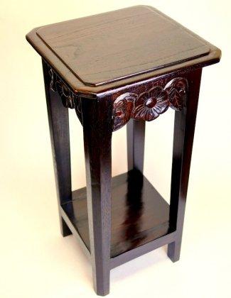花の彫刻サイドテーブル