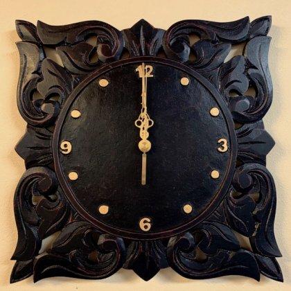 【11月上旬入荷予定】リースト彫刻壁掛け時計
