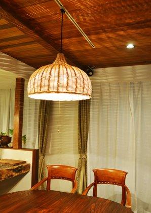 【3月上旬入荷予定】ラタン製 ハワイアンリビングランプ(2灯型)
