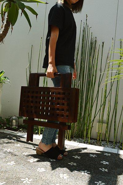 チーク材のガーデンテーブル(スクエア)