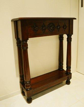 [2月下旬入荷予定]JA花彫刻のコンソールテーブル(薄型60)