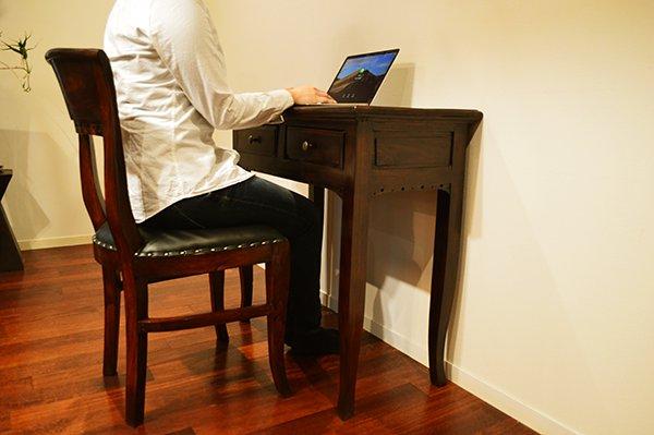 猫足コンソールテーブル(2引出)とKIダイニングチェアのSET
