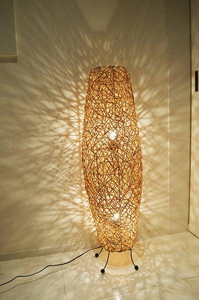 ラタンツイストコーンランプ2灯タイプ100cm