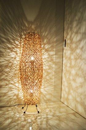 【3月上旬入荷予定】ラタンツイストコーンランプ2灯タイプ100cm
