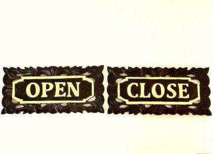 アジアン看板SET(OPEN・CLOSE)