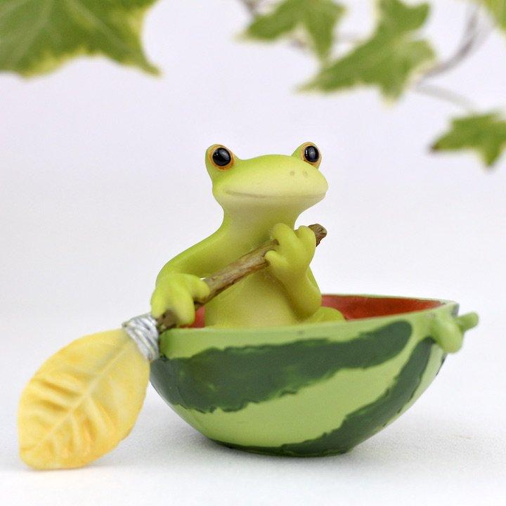 スイカ漕ぎカエル
