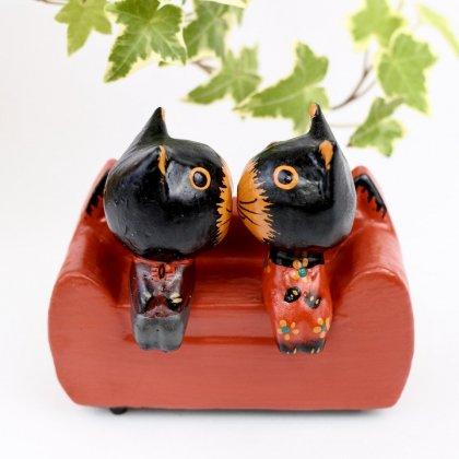 ネコ型ソファネコカップル