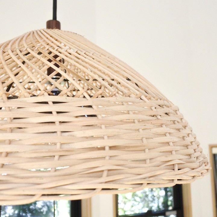 ラタン編み込みパユンランプ2灯型