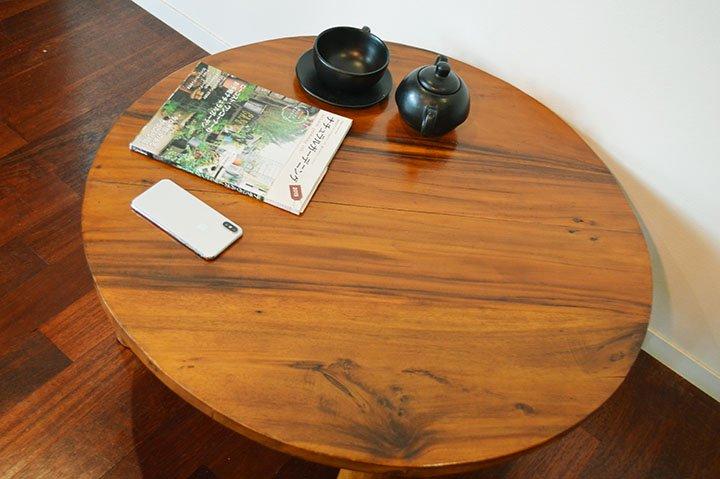 【4月中旬入荷予定】ARラウンドセンターテーブル(ちゃぶ台・ナチュラルカラー)80�
