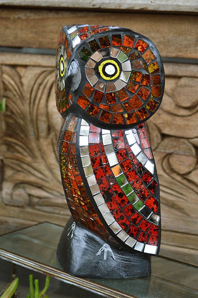 モザイクガラスのフクロウさん 全4色