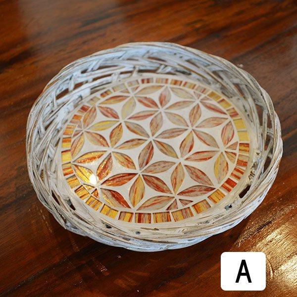 モザイクガラスバスケットトレイ A〜C