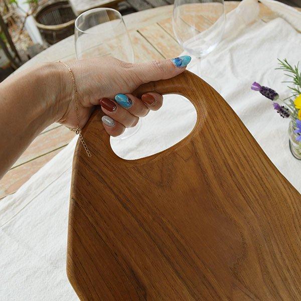 チーク無垢材のカッティングボードMサイズ(まな板)