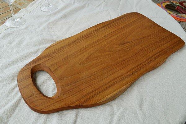 チーク無垢材のカッティングボードLサイズ(まな板)