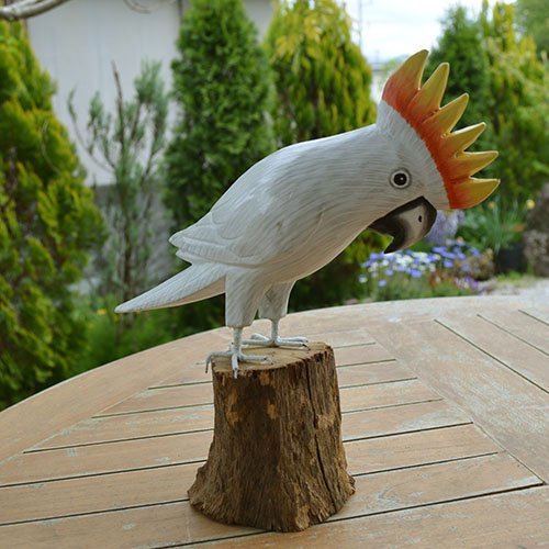 BALI島 南の島オウム(天然木)