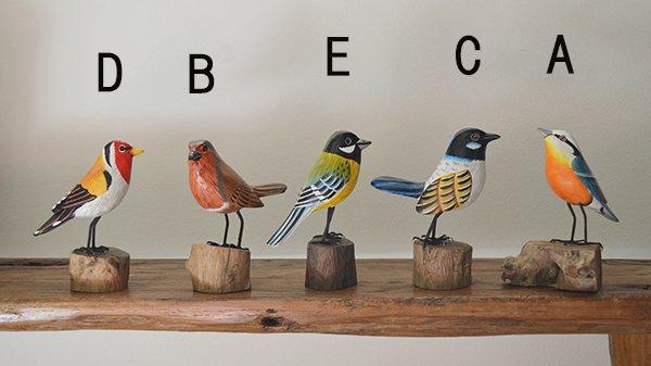 BALI島の小鳥さん 天然木 A〜Eタイプ