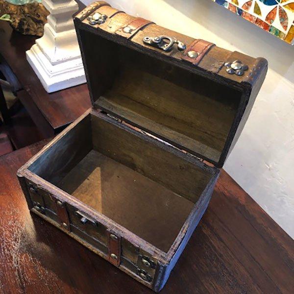 アンティーク調ウッドBOX 木のBOX 【A】