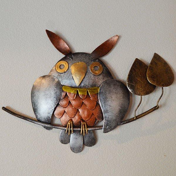 壁掛けアイアンフクロウ(1匹)
