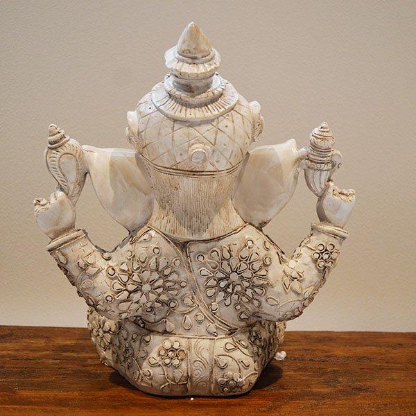 ガネーシャ像(アンティークホワイトカラー30�)