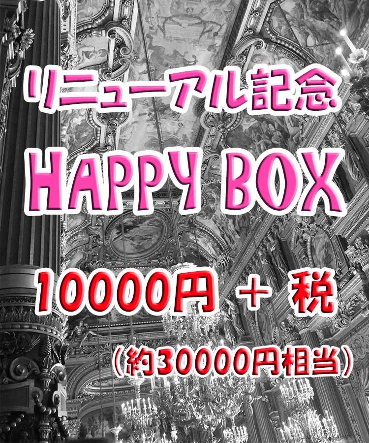 【 サイトリニューアル記念 】 HAPPY BOX (福袋) 10000円+税 【 約30000円相当 】