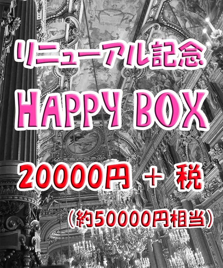 【 サイトリニューアル記念 】 HAPPY BOX (福袋)  20000円+税 【 約50000円相当 】
