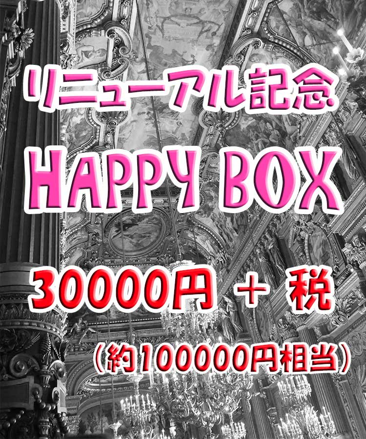【 サイトリニューアル記念 】 HAPPY BOX (福袋)  30000円+税 【 100000円相当 】