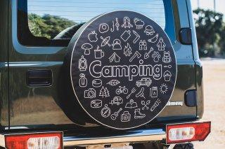 SPARE TIRE COVER CAMPING スペアタイヤカバー キャンピング