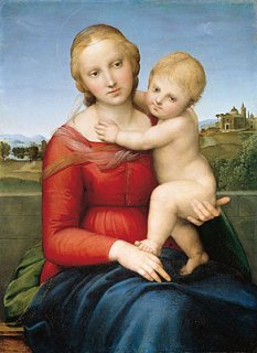 カウパーの小聖母子 原画同寸