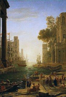 聖パウラが上陸するオスティアの港