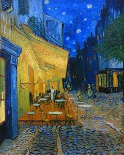 夜のカフェ・テラス