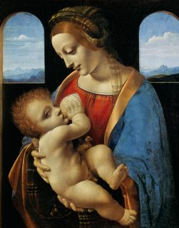 リッタの聖母  原画同寸