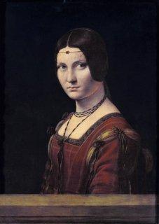 ラ・ベル・フェロニエール(若い女性の肖像)  原画同寸