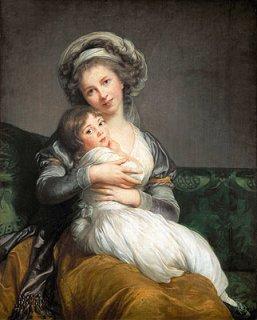 娘、ジュリーとのターバンをした自画像