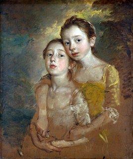 画家の娘達と猫