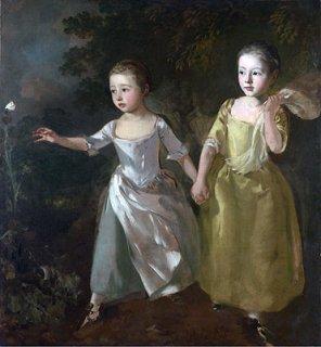 蝶を追う画家の娘達