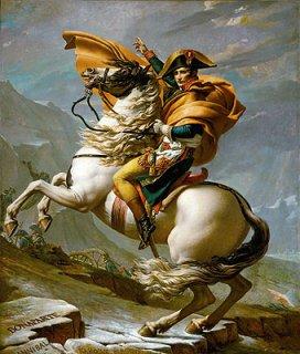 ベルナール峠からアルプスを越えるナポレオン、1800年5月20日