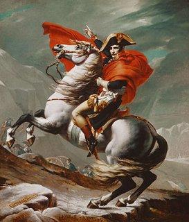 ベルナール峠を越えるナポレオン