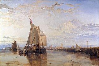 ドルドレヒト:凪で止まったロッテルダムの定期船