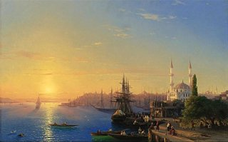 コンスタンティノープルとボスポラス海峡の風景