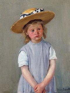 麦わら帽子の子供